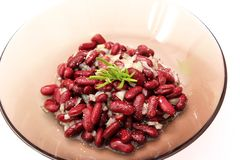 Fresh salad of red beans Royalty Free Stock Photography