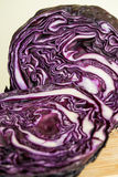 Fresh salad - red cabbage cut in half - close view Royalty Free Stock Photo