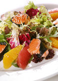 Fresh salad with red fish Stock Photos