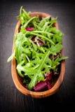 Fresh salad: Rucola and Radicchio Royalty Free Stock Image