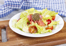 Fresh salad with a salmon Stock Image