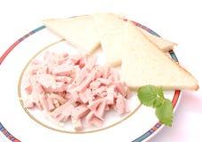 Fresh salad of sausage Royalty Free Stock Photography