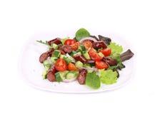 Fresh salad with sausage. Royalty Free Stock Image