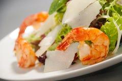 Fresh salad with seafood Stock Photo