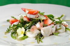 Fresh salad with seafood Stock Photography
