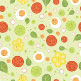 Fresh salad seamless pattern background Royalty Free Stock Photos