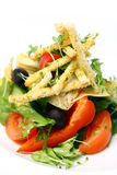 Fresh salad from seasonal vegetables with croutons Royalty Free Stock Photo