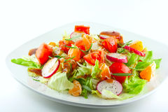 Fresh Salad With Sesame Ginger Dressing Royalty Free Stock Photo