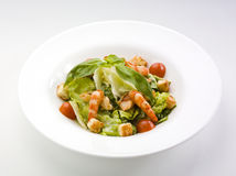 Fresh salad with shrimp Royalty Free Stock Photos