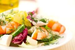 Fresh salad with shrimp Royalty Free Stock Image