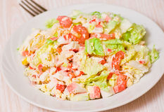 Fresh salad with shrimps and vegetables Stock Photo