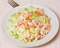 Fresh salad with shrimps and vegetables Royalty Free Stock Photo