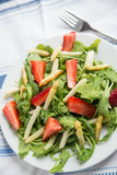 Fresh salad with strawberry, asparagus Royalty Free Stock Photo