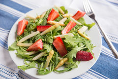 Fresh salad with strawberry, asparagus Royalty Free Stock Photography
