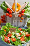 Fresh salad is a symbol of healthy eating Royalty Free Stock Image