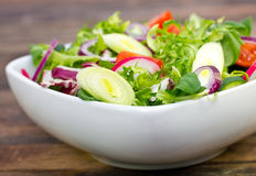 Fresh salad on the table Royalty Free Stock Images