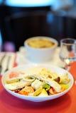 Fresh salad on table Stock Photo
