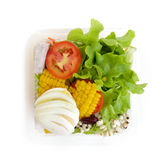 Fresh salad in takeaway container from top Stock Photography