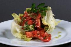 Fresh salad and tomato Royalty Free Stock Photography