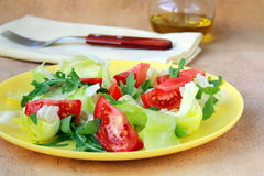 Fresh salad with tomato and arugula Royalty Free Stock Image