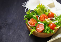 Fresh salad with tomato, frisee and onion Royalty Free Stock Photography