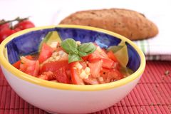 A fresh salad of tomatoes Stock Photography