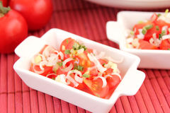 A fresh salad of tomatoes Stock Image
