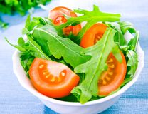 Fresh salad with tomatoes Stock Photography