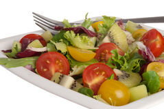 Fresh salad with tomatoes Stock Photos