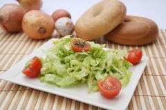 Fresh salad with tomatoes Stock Images