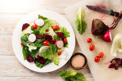 Fresh salad with tomatoes and beetroot Stock Images