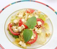 Fresh salad with tomatoes and cheese Royalty Free Stock Photo