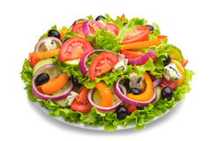 Fresh salad with tomatoes and cheese Stock Photos