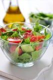 Fresh salad with tomatoes cherry Stock Photo