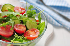 Fresh salad with tomatoes cherry Stock Image