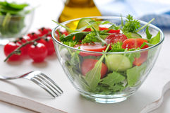 Fresh salad with tomatoes cherry Royalty Free Stock Image