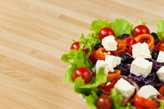 Fresh Salad With Tomatoes & Feta Cheese Stock Images