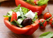 Fresh salad with tomatoes and feta Stock Photography