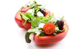 Fresh salad with tomatoes and feta Royalty Free Stock Image