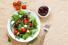 Fresh salad with tomatoes and feta Royalty Free Stock Images
