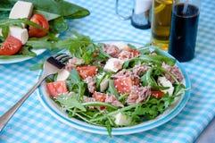 Fresh salad with tomatoes, ruccola, tuna Stock Photography