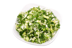 Fresh salad from vegetables Royalty Free Stock Image