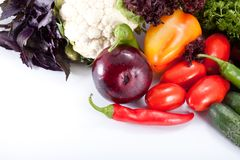 Fresh salad vegetables Royalty Free Stock Photography