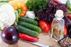 Fresh salad vegetables Stock Photo