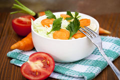 fresh salad with vegetables Royalty Free Stock Photography