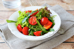 Fresh salad with vegetables Royalty Free Stock Images
