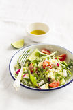 Fresh salad with vegetables and pasta Stock Image