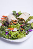 Fresh salad and veggie wrap. Royalty Free Stock Photography