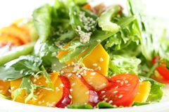 Fresh salad on white background Stock Photo