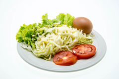 Fresh salad in a white plate. Royalty Free Stock Photo
